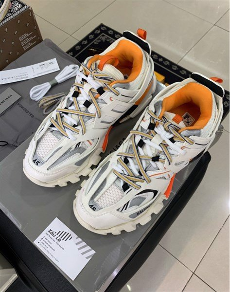 Balenciaga Track Led White/ Orange (PK)