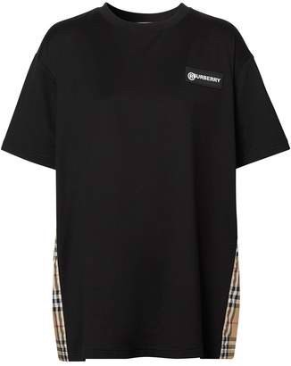 Burberry Vintage Check Panel T-Shirt (1:1)