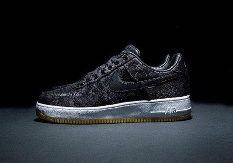 "Fragment x CLOT x Nike Air Force 1 ""Black Silk"" (PK)"
