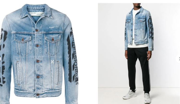 OFF-WHITE 'impressionism' denim jacket (1:1)