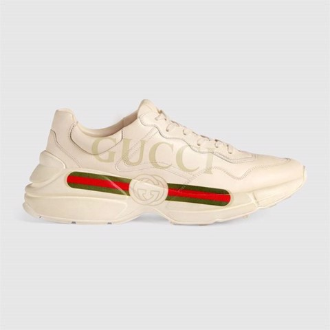Rhyton Gucci PRINT logo leather sneaker (1:1)
