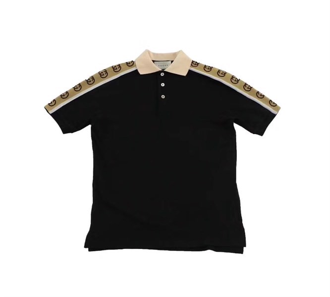 Gucci Polo Interlocking G Stripe Black (1:1)