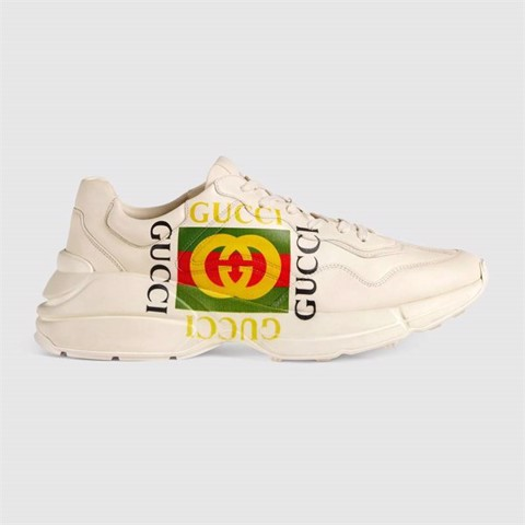 Rhyton Gucci logo leather sneaker (1:1)