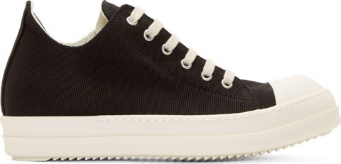 Rick Owens Drkshdw Black & White Canvas LOW-TOP Sneakers (1:1)
