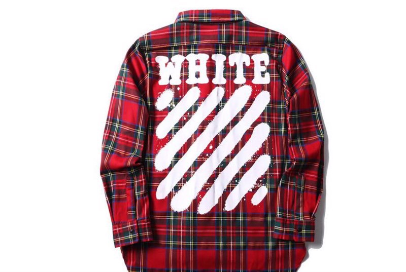 Off-White Sprayed Diagonals Check Shirt