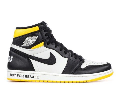 AIR JORDAN 1 RETRO HIGH OG NRG ''NOT FOR RESALE'' YELLOW (PK)