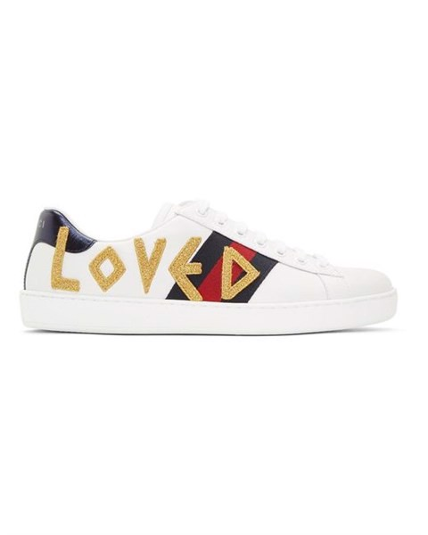 Gucci White 'Loved' New Ace Sneakers