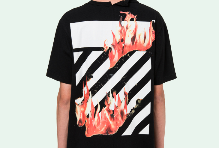 OFF WHITE FIRE SPLICED S/S T-SHIRT