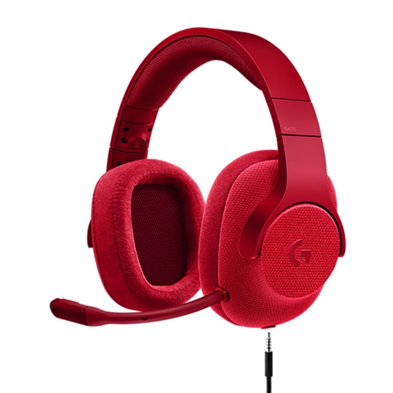 Tai Nghe LOGITECH G433 7.1 SURROUND WIRED (Red/Blue)
