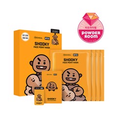 bt21 x mediheal face point mask set shooky