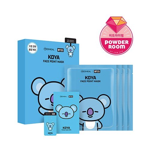 bt21 x mediheal face point mask set koya