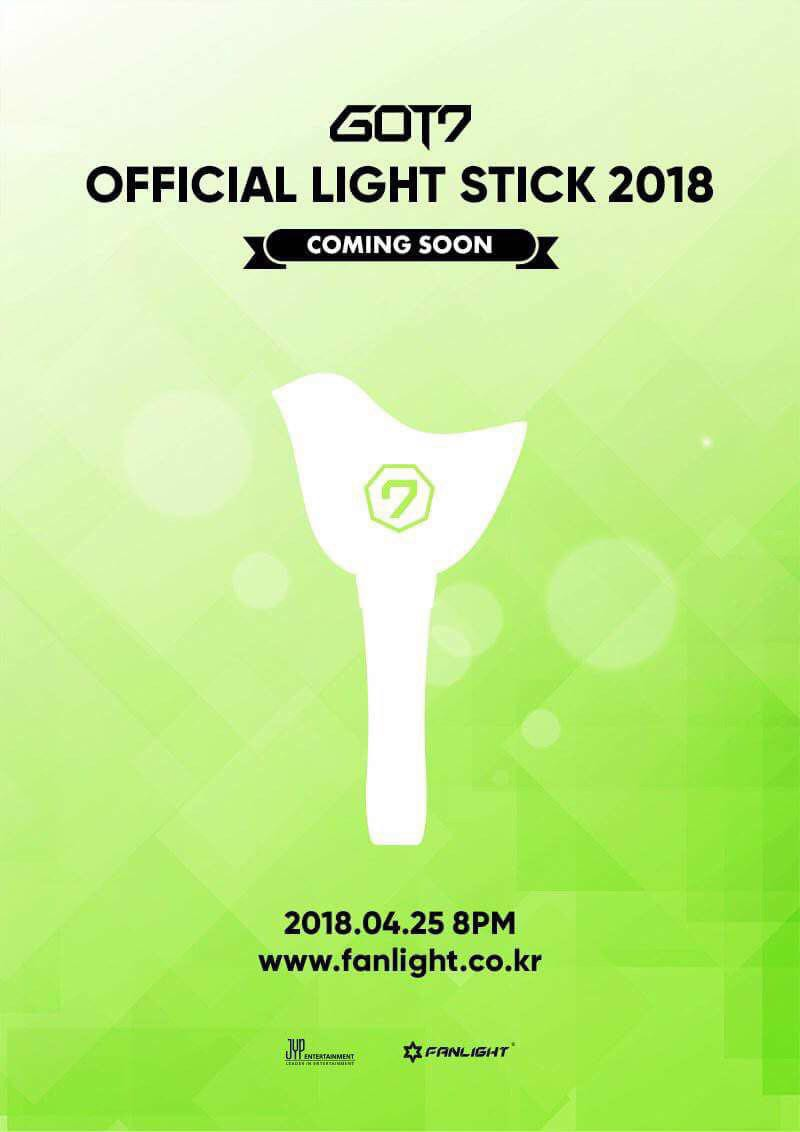 got7 official light stick 2018