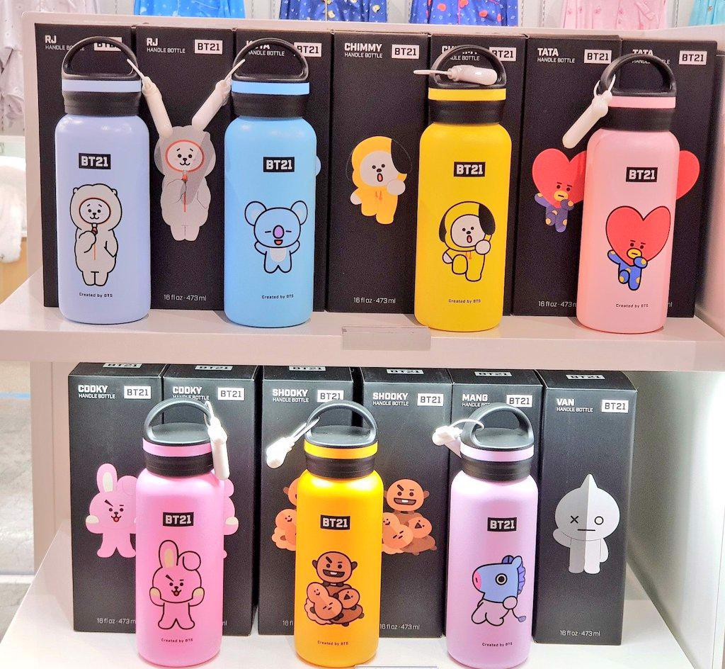 bt21 official handle bottle