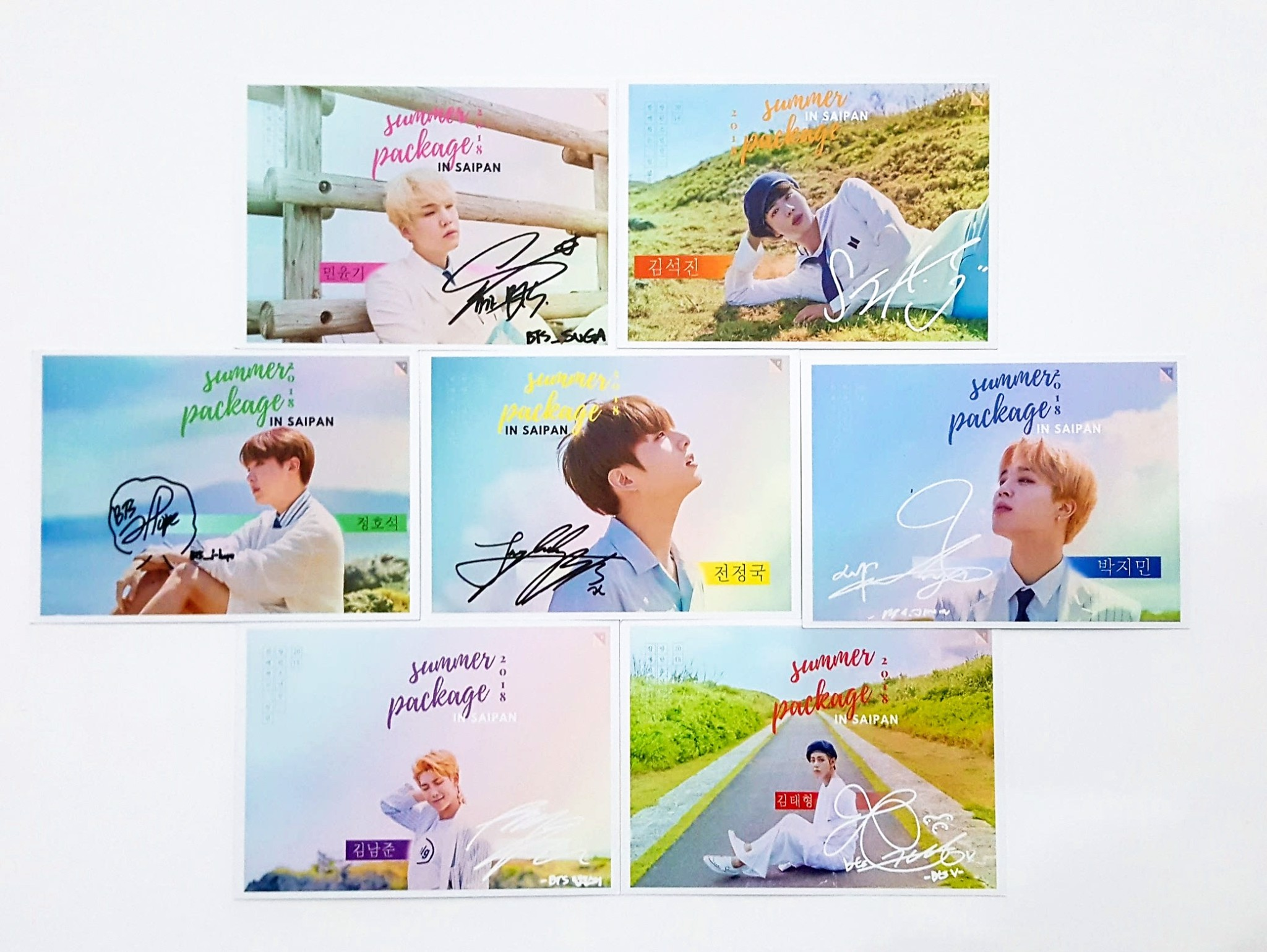 set postcard 2018 bts summer package
