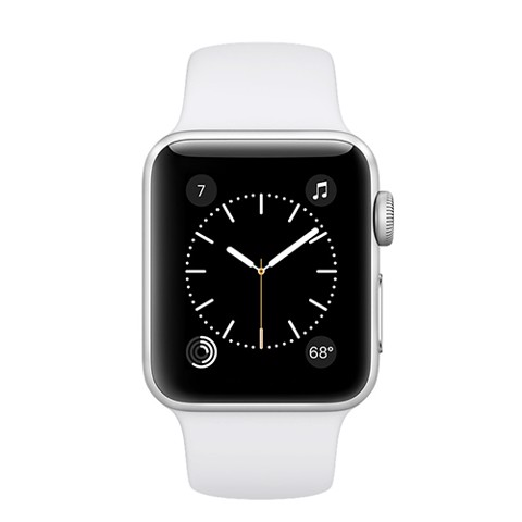 Apple Watch (38mm) Silver Aluminum Case with White Sport Band (MNNG2)
