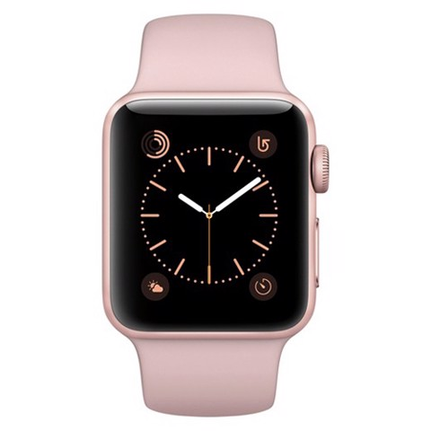 Apple Watch 38mm Rose Gold Aluminum Case with Pink Sand Sport Band (MNNH2LL/A)