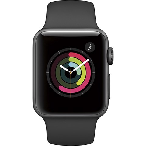 Apple Watch SERIE 2 (38mm) Space Gray Aluminum Case with Black Sport Band (MP0D2)