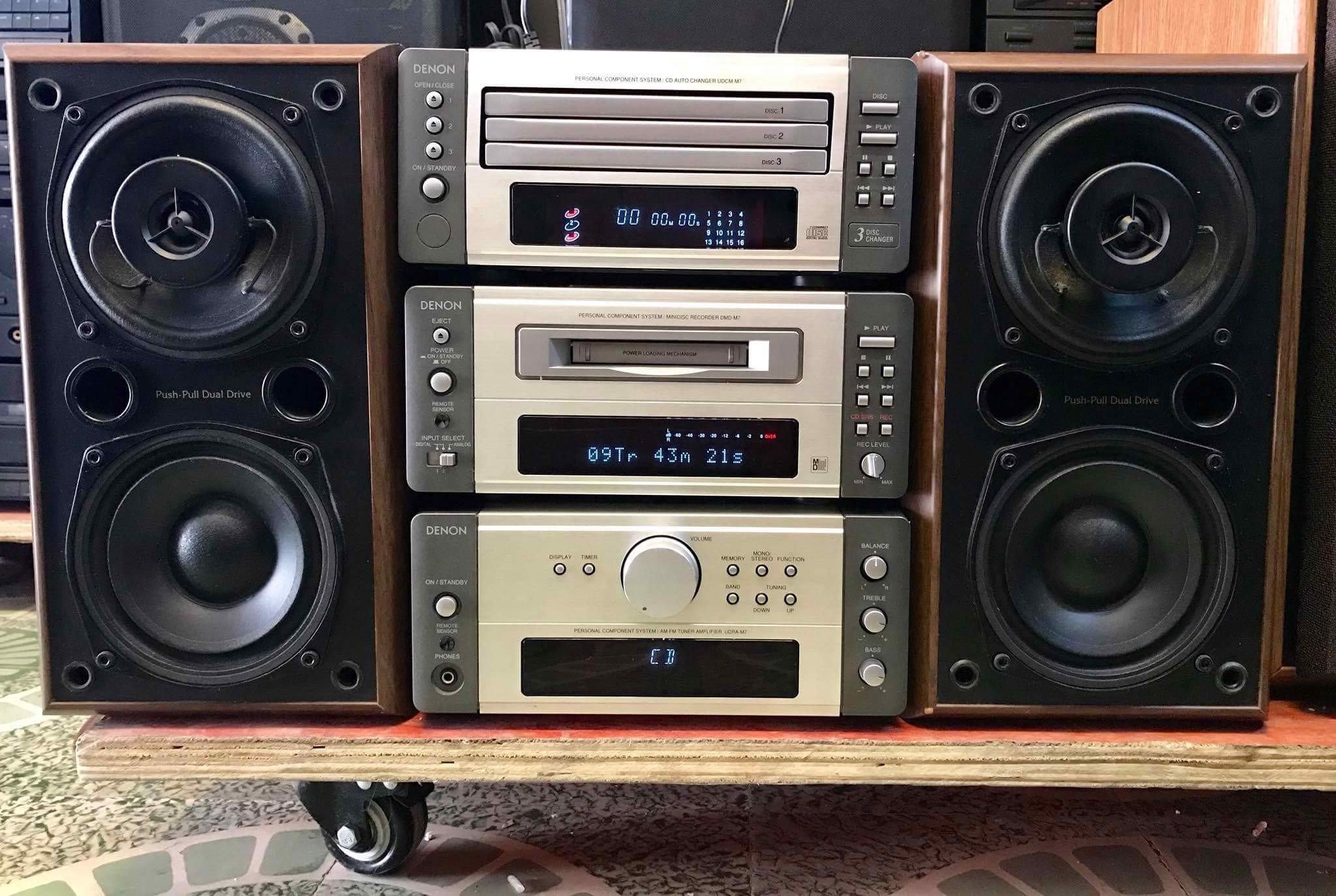 Dàn mini Nhật DENON M7 nguyên bản - Yến Âm Thanh Bãi – Dàn Bãi Nhật & Đĩa  CD Gốc