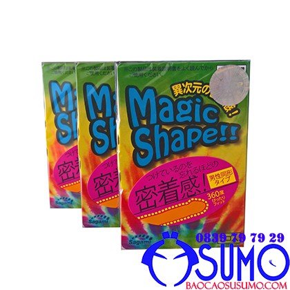 Bao cao su Sagami Magic Shape size nho Shop Sumo Can Tho 0839797929