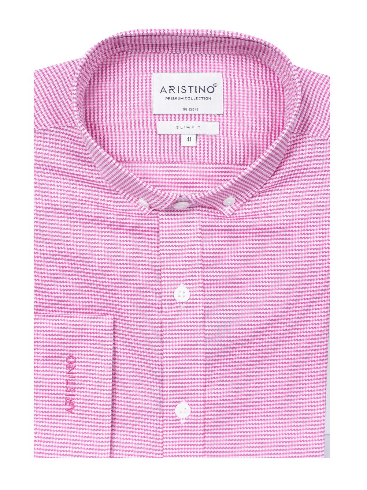 Áo sơ mi nam sọc hồng trắng Aristino ALS17-CO29