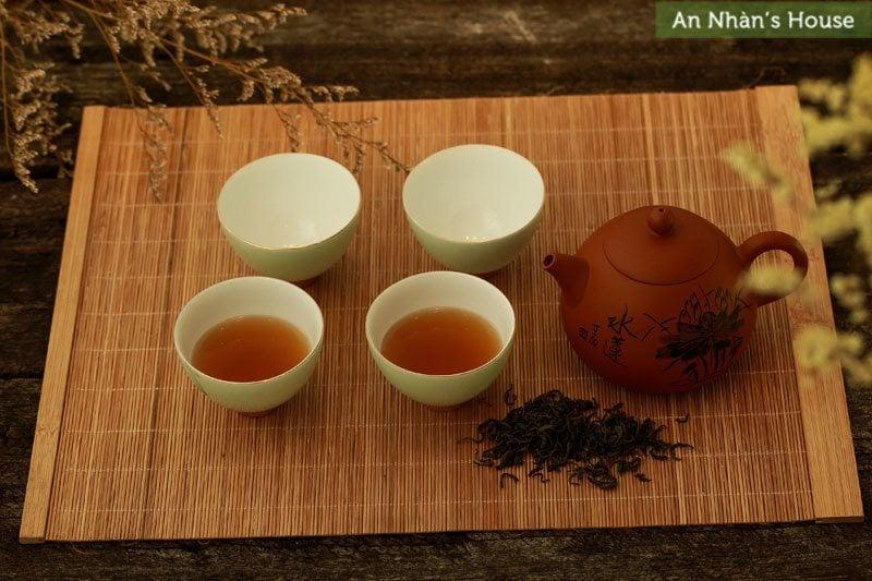 Bộ trà đạo nâu xanh ngọc