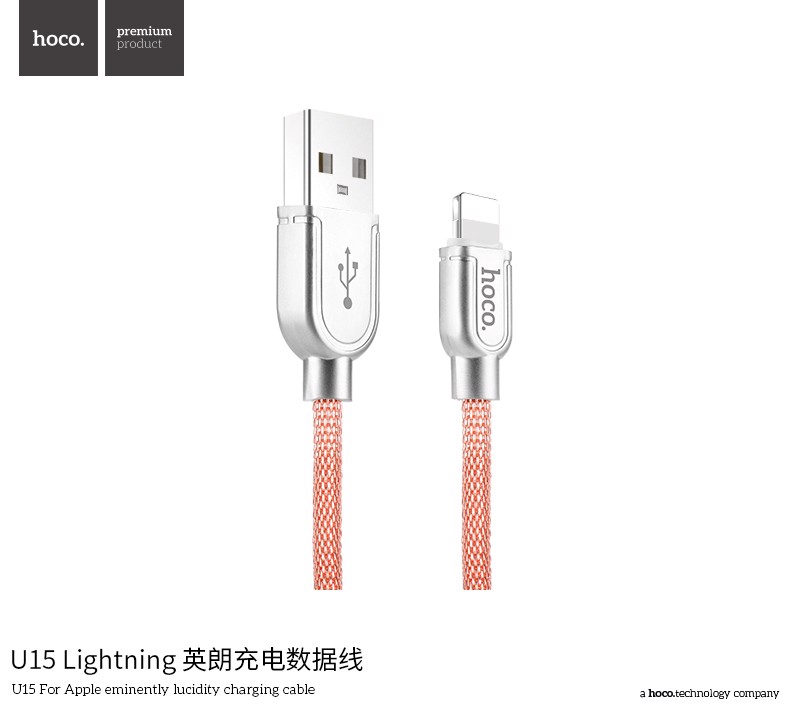 Cable iPhone dệt kim Hoco U15