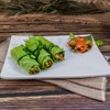 GRILLED GROUND PRAWN SERVED WITH RICE PAPER AND VEGETABLES