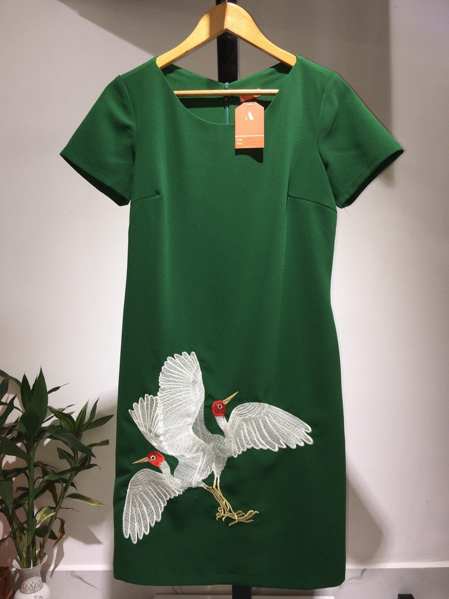 Đầm thêu hạc TN