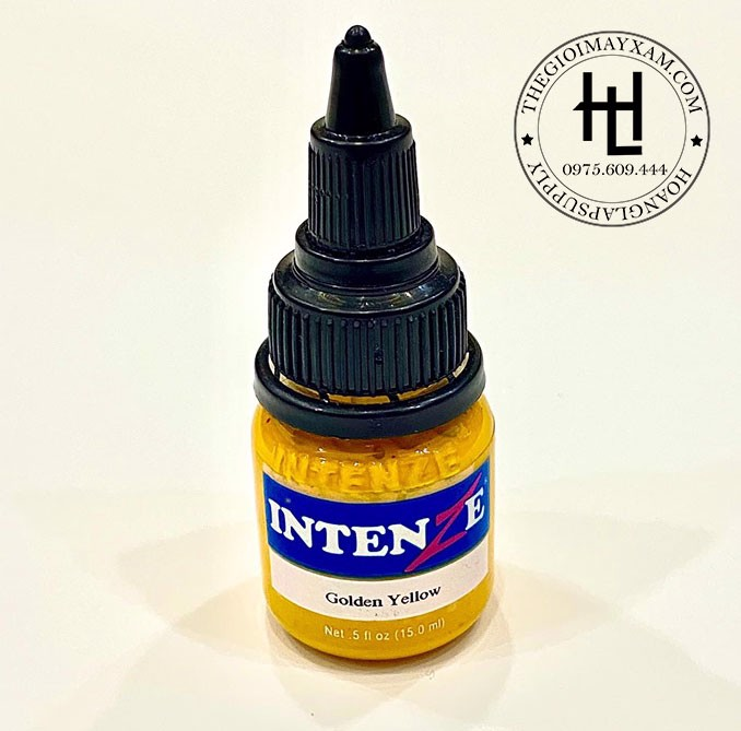 MỰC XĂM HÌNH INTENZE  GOLDEN YELLOW ( 15ml )