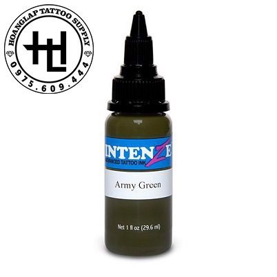 MỰC XĂM INTENZE ARMY GREEN ( 30ml )