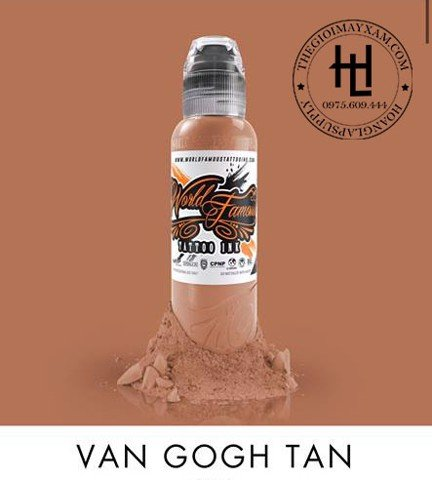 MỰC XĂM WORLD FAMOUS VAN GOGH TAN ( 15ml )