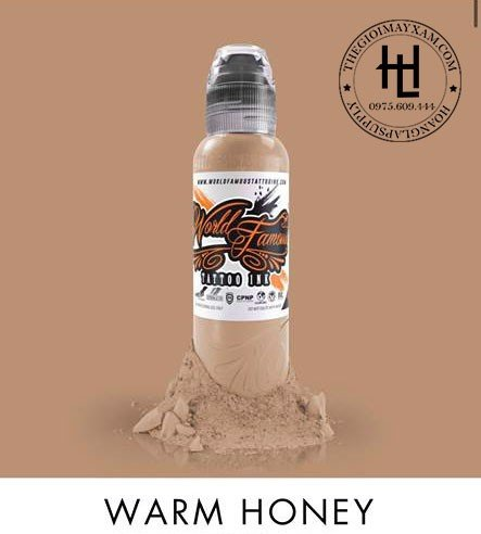 Mực xăm world famous (0,5oz) WARM HONEY