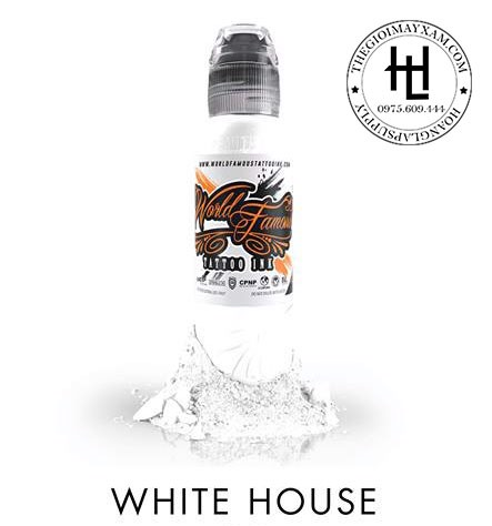 mực xăm world famous WHITE HOUSE 1OZ