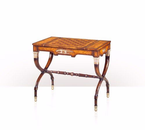 5205-056 Table - Bàn An Egyptian revival flame mahogany games table