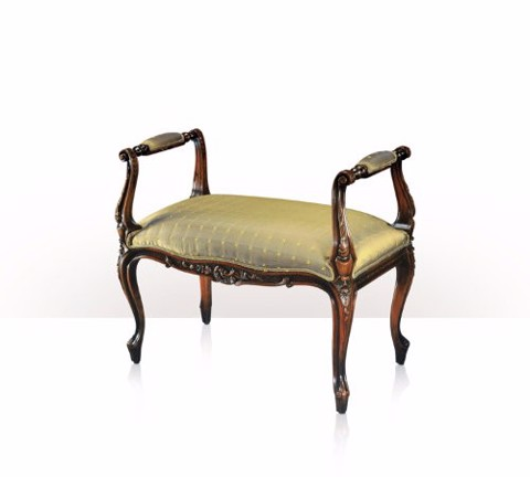 4400-150 Chair - A hand carved stool or window seat