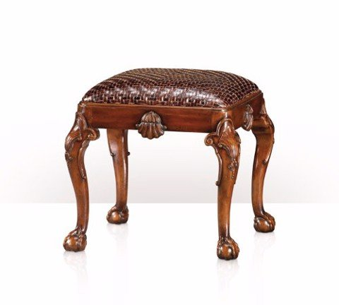 4400-213 Chair - A hand carved footstool