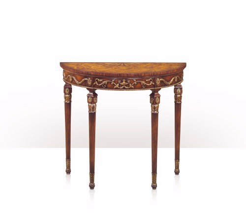 5300-082 Table - Bàn A mahogany, gilt and rosewood bowfront console table