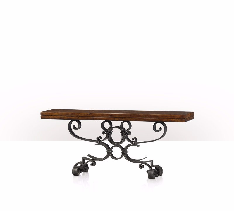 5311-033 Table - Bàn Antiqued Iron Scrolls