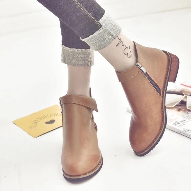 Giày boot nữ MWC NUBO- 4034