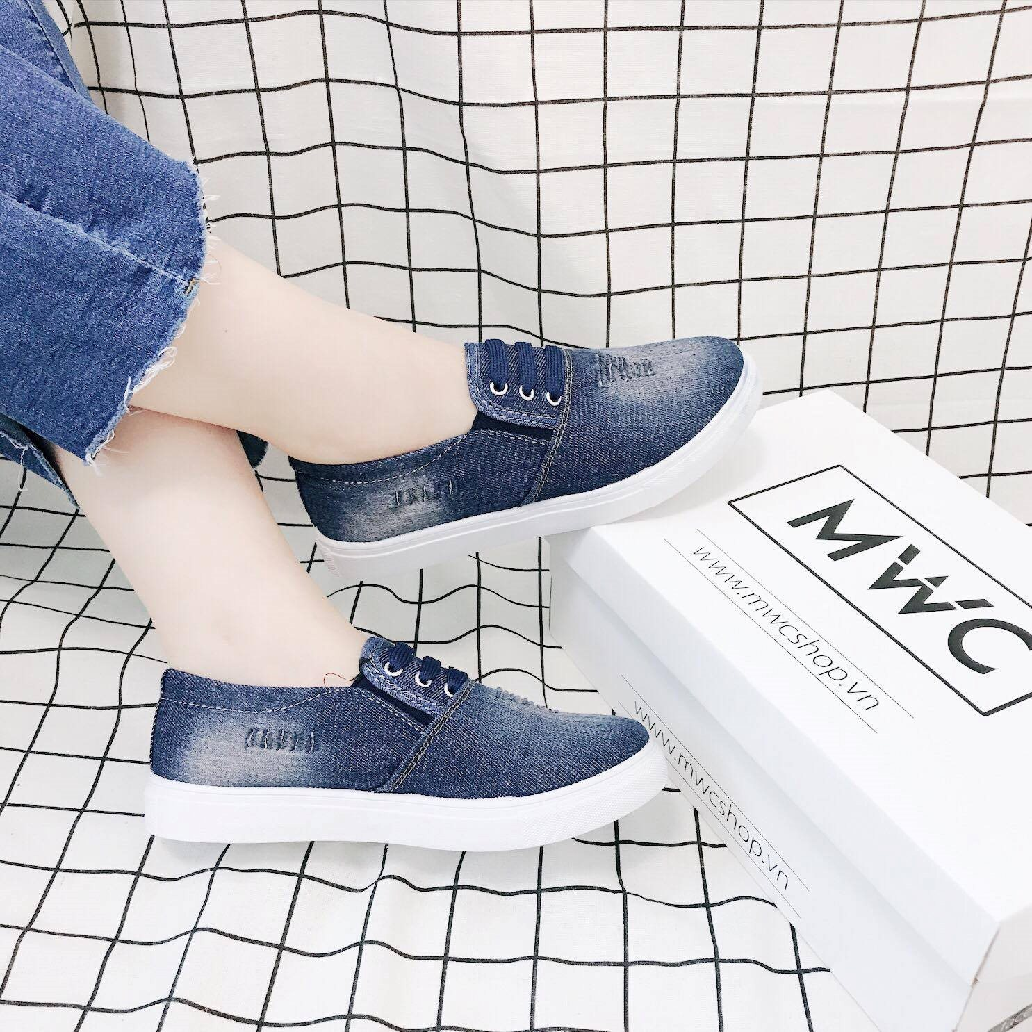Giày Slipon nữ MWC NUSL- 1520