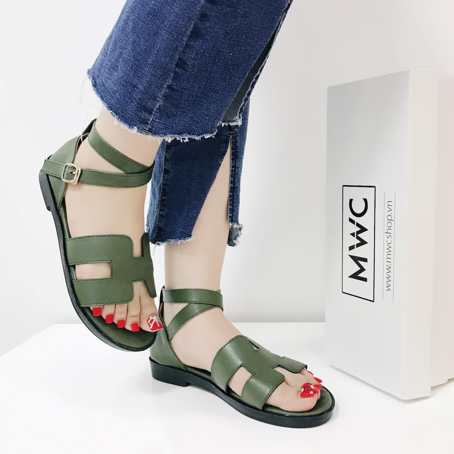 Giày sandal nữ MWC NUSD- 2502