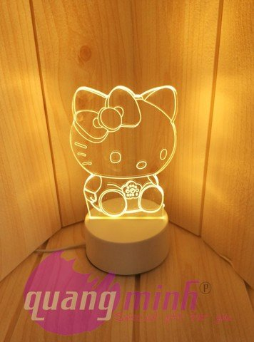 ĐÈN LED KHĂC 3D MÈO KITTY