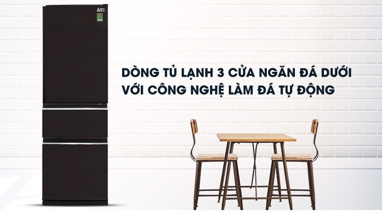 Tủ lạnh Mitsubishi Electric 358L MR-CX46EJ-BRW