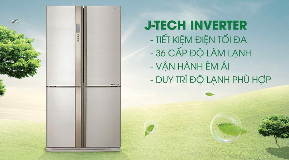 Tủ lạnh Sharp Inverter 626L SJ-FX630V-BE