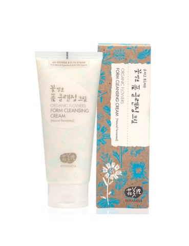 Sữa rửa mặt Whamisa Organic Flowers Foam Cleasing Cream