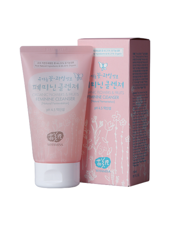 Dung dịch vệ sinh phụ nữ Whamisa Organic Flowers & Fruits Feminine Cleanser