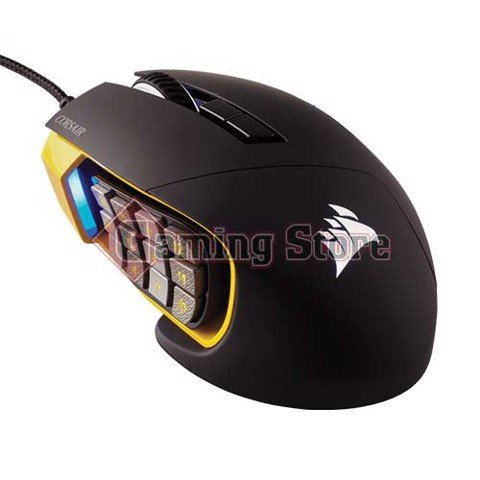 Corsair Scimitar RGB Optical MOBAMMO Gaming Mouse — Yellow (AP)