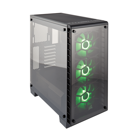 Case Corsair 460X RGB Crystal Series Tempered Glass