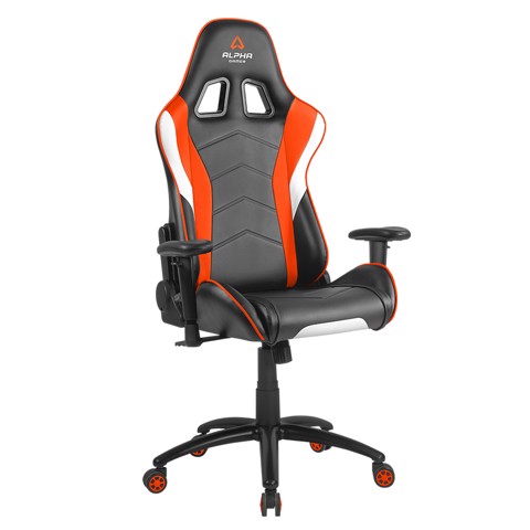 ALPHA GAMER DELTA - BLACK / WHITE / ORANGE