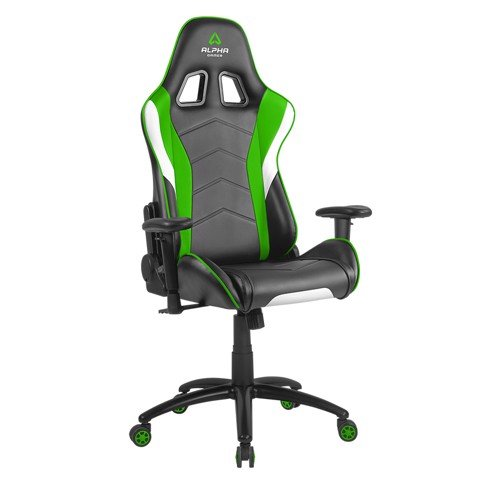 ALPHA GAMER DELTA - BLACK/WHITE/GREEN